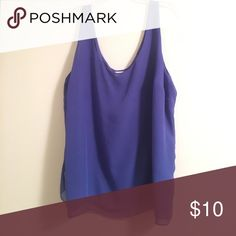 Old navy chiffon tank Worn several times. There is a small stain in the front, but it would not show in pictures! Old Navy Tops Blouses