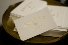 Balzac Brasserie. Restaurant branding by Bravo.