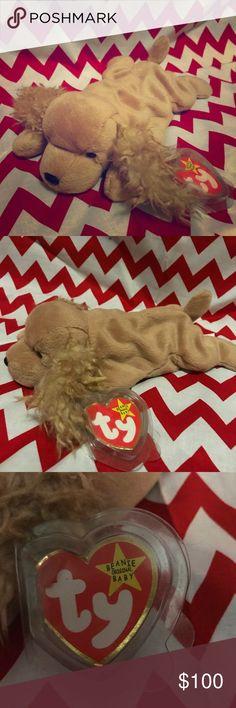 MWMT Ty Beanie Baby ~ LAPTOP the Cocker Spaniel Dog 6 Inch
