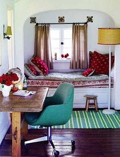 one end of the arcade - built-in daybed nook?