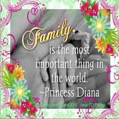 Family quote via Loving Them Quotes on Facebook