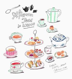 Tante S!fr@ loves this pin // Patrizia Conde Coffee Illustration, Line Illustration, Pattern Illustration, Deviantart Drawings, To Do Planner, Little Bunny Foo Foo, Food Drawing, Decoupage, Illustrations And Posters