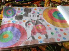 Mickey Mouse  Colored Pencil Drawing  By Creative Artistry by Christina V Saunders