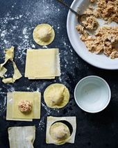 Crab Ravioli with Shallot Cream Recipe - Grace Parisi | Food & Wine