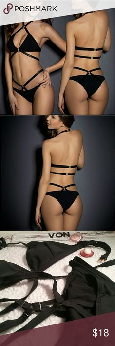 Bandage bikini set New retro Biquini low waist wire free bikini set Swim Bikinis