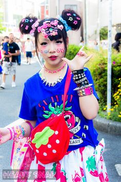 Creative Japanese street style called decora.