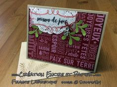 Stampin'Up! Carte Noël Christmas Card Étampes Joie à Profusion Merry Medley Stamp Set www.creationencreetpapier.com