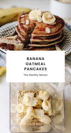 Weekend breakfasts just got so much easier with these Banana Oatmeal Pancakes! Just throw all the ingredients into your blender and then cook on a skillet for delicious and healthy pancakes that taste just like banana bread!