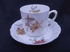 Haviland Limoges Antique Coffee Cup & Saucer by Collectablesgalore