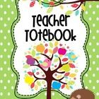 """This is a cute hedgehog""""Totebook"""" for teachers to """"tote"""" all of their important information! This handy totebook will keep all your important clas..."""