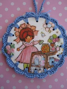 Recycled Vintage Book Illustration  Candy Shop Cutie by ShoeFlower