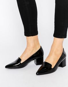 14d8353df1e London Rebel Mid Heeled Loafers Heeled Loafers