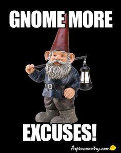 Funny Gnome Humor: Gnome Or Excuses?