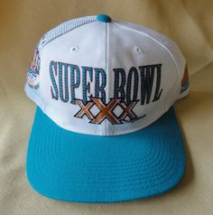 Super Bowl XXX vintage snap back hat   vintage baseball cap   vintage  trucker cap by 74f4fc859