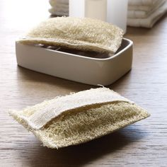 Sabai Loofah - We've combined a gentle scrub brush with the soap to exfoliate and cleanse simultaneously. The secret is the small bits of rich palm oil that we've sewn inside the natural sea-harvested loofah. This is a conversation piece for any guest bathroom, a real clean-up helper beside your work sink, or a wonderful, thoughtful gift.
