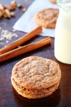 Have you tried the Kevin & Amanda Secret Ingredient Christmas Cookies? They are PERFECT for cookie swaps and will have everyone trying to guess what the secret ingredient is!It's decadent, Brown Butter, Cinnamon Toasted Pecan, Oatmeal Snickerdoodles. Just Desserts, Delicious Desserts, Dessert Recipes, Yummy Food, Awesome Desserts, Tasty, Cinnamon Cookies, Yummy Cookies, Pecan Cookies