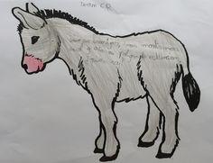 Poesía, adivinanza o trabalenguas sobre el burro de MIJAS Moose Art, Art, Humanoid Sketch