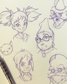 """I saw the Japanese version of """"Mary and the Witch's Flower"""" last night and really enjoyed it. Just wanted to draw some of the characters! Have you guys seen it? #maryandthewitchsflower #mary #peter #tib #madamemumblechook #doctordee #flanagan #sketch #doodle #animation #studioghibli #studioponoc #sketchbook #anime #manga #thelittlebroomstick"""