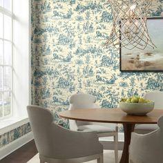 Seasons Toile Wallpaper. Ashford Toiles. Sure Strip Stripped Wallpaper, Ashford House, Toile
