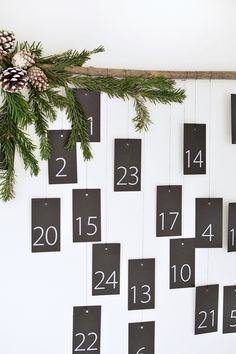 DIY modern advent calendar