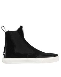 STONE ISLAND > Slip On Boots, Black Suede