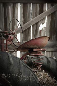 Vintage Tractor, #rustic, #barn, # tractor