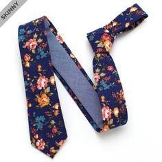 Vintage English Rose Skinny Necktie - vintage ties handmade in the United States