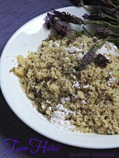 Algerian North African lavendar scented couscous