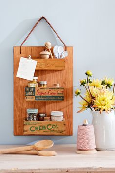 Cutting Board Spice Rack