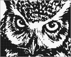 owl cross stitch pattern by Artful Escapes, via Flickr
