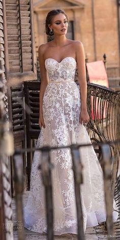 muse berta 2018 bridal strapless sweetheart neckline full embellishment romantic a line wedding dress medium train (11) mv -- Muse by Berta 2018 Wedding Dresses