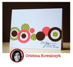 Love the circles and would be perfect to get rid of scraps!