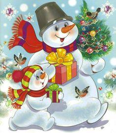 Snowman Clipart, Snowman Cards, Christmas Cartoons, Nouvel An, Disney Christmas Decorations, Snowman Decorations, Whimsical Christmas, Christmas Colors, Christmas Scenes