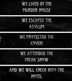 american horror story frases - Buscar con Google