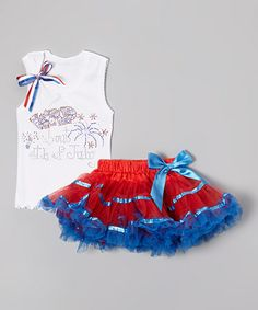 Another great find on #zulily! White 'Wild' Tank & Red Pettiskirt - Infant, Toddler & Girls by So Girly & Twirly #zulilyfinds