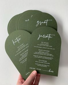 Arch menu in Eco Grandé Forest with white ink digital for designer Stationery Design, Invitation Design, Invitation Cards, Wedding Stationary, Wedding Invitations, Invites, Wedding Signs, Wedding Cards, White Ink