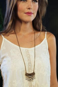 Fanned Fringe Necklace - Noonday Collection || It's hip, #bohemian and a little retro. This jewelry was #handmade, #FairTrade, in India. Your purchase empowers men and women, allowing them to provide for their families. Find more products at @philorgs.