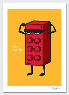 Gym art: Six Pack by flyingmouse365 on Etsy, $30.00