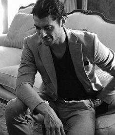 """Mr.Gandy """"El hombre más deseado del mundo"""" @elle_spain 2014 by @bernardodoral #davidgandy #style #icon"""