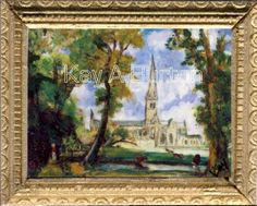 After John Constable (1776–1837) Painted c. 1825 This timeless image of England's most famous medieval church is one of his most celebrated works, and was commissioned by one of his closest friends, John Fisher, The Bishop of Salisbury. Constable visited Salisbury in 1820 and made a series of oil sketches of the cathedral, which served as the model for this composition.   Constable was an English Romantic painter.