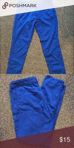 Blue American Eagle skinny jeans Royal blue size 6 regular skinny jeans American Eagle Outfitters Jeans Skinny