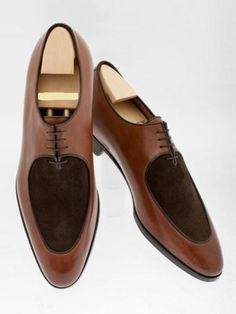 Men,s Handmade Oxford Two Tone shoes, Men Brown Dress Office Cap Toe Shoes - Handmade leather shoes and jackets - Hot Shoes, Men's Shoes, Shoe Boots, Dress Shoes, Shoes Men, Dress Clothes, Shoes Style, Shoes Sneakers, Handmade Leather Shoes
