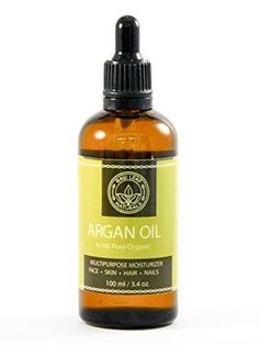 Argan Oil Raw Leaf Naturals BEST QUALITY Moroccan Organic for Hair Skin Nail Beard and Cuticles  100 Pure USDA and Ecocert AntiWrinkle and AntiAging 100ml34oz >>> Want additional info? Click on the image. Note:It is Affiliate Link to Amazon.