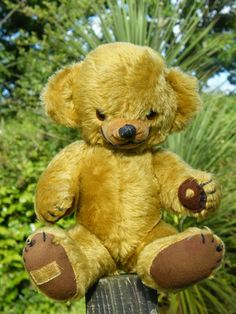 old Merrythought Cheeky bear Antique Teddy Bears, Old Friends, Vintage Toys, Childhood Memories, Dolls, Antiques, Artist, Baby, Handmade