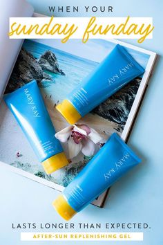 Need relief after a day by the pool or at the beach? Our Limited-Edition† After-Sun Replenishing Gel can help. Next time you step out for a day in the sun, don't forget to pack Mary Kay® Sun Care Sunscreen Broad Spectrum SPF 50*! | Let me help you with your Mary Kay needs! Click to shop: www.marykay.com/taharper