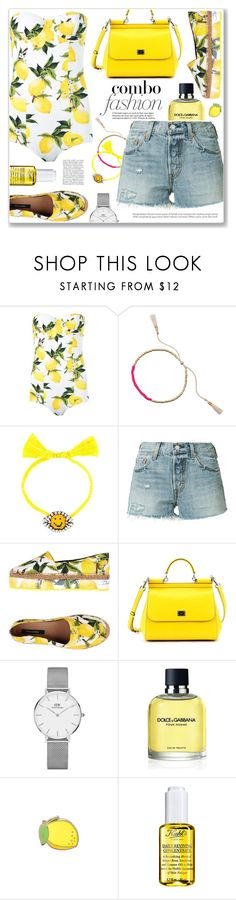 """Amalfi coast, my second home ♥"" by teryblueberry ❤ liked on Polyvore featuring Dolce&Gabbana, Jiya, Shourouk, Levi's, Daniel Wellington, PINTRILL and Kiehl's"