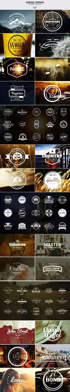 MASSIVE BUNDLE 576 Vintage Logos by DesignDistrict on Creative Market