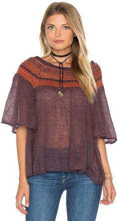 Free People Lock Lomand Flutter Sleeve Top