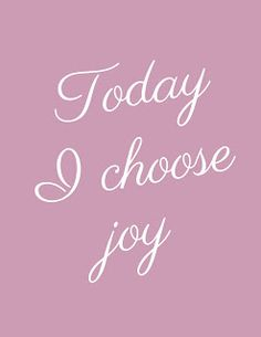Get the free printable plus a coloring page. Print it out, take a coloring break. Color the words, absorb the message.Today I choose joy.