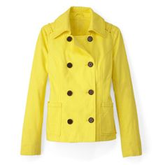 A sunny, chill-chasing Old Navy peacoat is a fun (and practical) way to wear one of the hottest colors of the season.